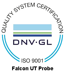 Falcon UT Probe Quality System certified by DNV GL = ISO 9001 =